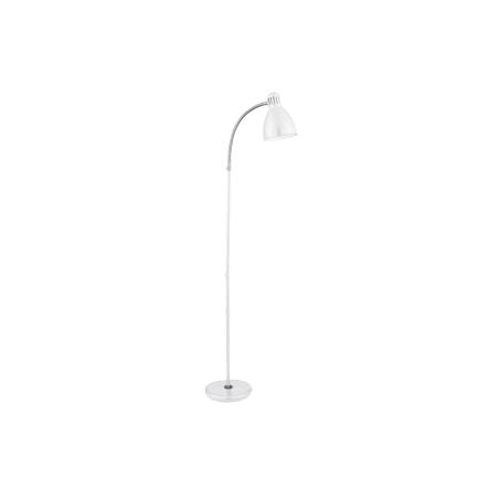 Searchlight 2029wh 1 light floor lamp chrome and white for Task floor lamp white