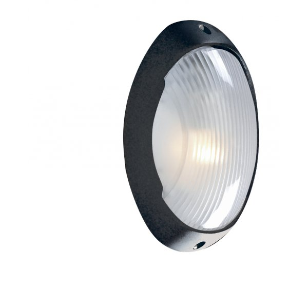 Low Energy Exterior Wall Lights : Searchlight 3152BK 1 Light Outdoor Low Energy Wall Light Black IP44