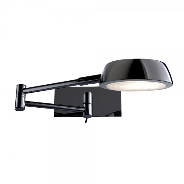 Searchlight 3863BC Adjustable Wall Lights 1 Light Black Chrome Wall Light