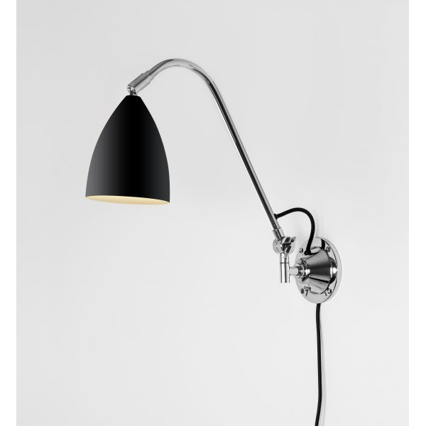 astro 7252 joel grande wall switched wall light black polished chrome. Black Bedroom Furniture Sets. Home Design Ideas
