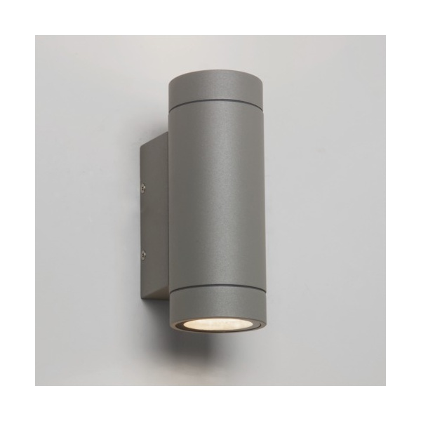 Twin Wall Lights Garden : Astro 7585 Dartmouth Twin LED Outdoor Wall Light IP54 Painted Silver