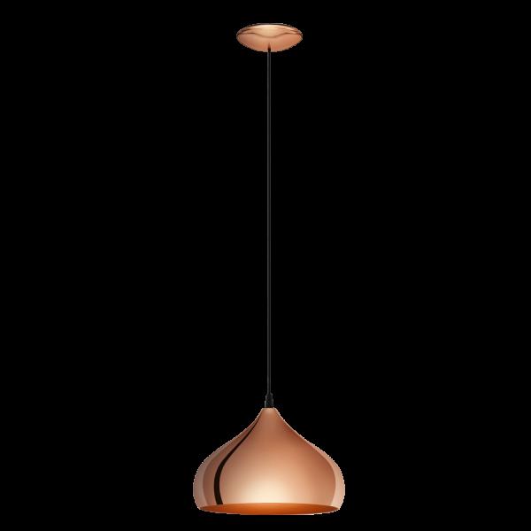Eglo 49449 Hapton 1 Light Ceiling Pendant Copper
