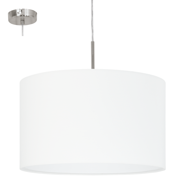 This Is A 1 Light Pendant Complete With A Matt Whiteshade
