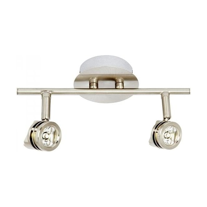 Endon EL-10115 2 Light Wall/Ceiling Mounted Spotlight Stainless Steel