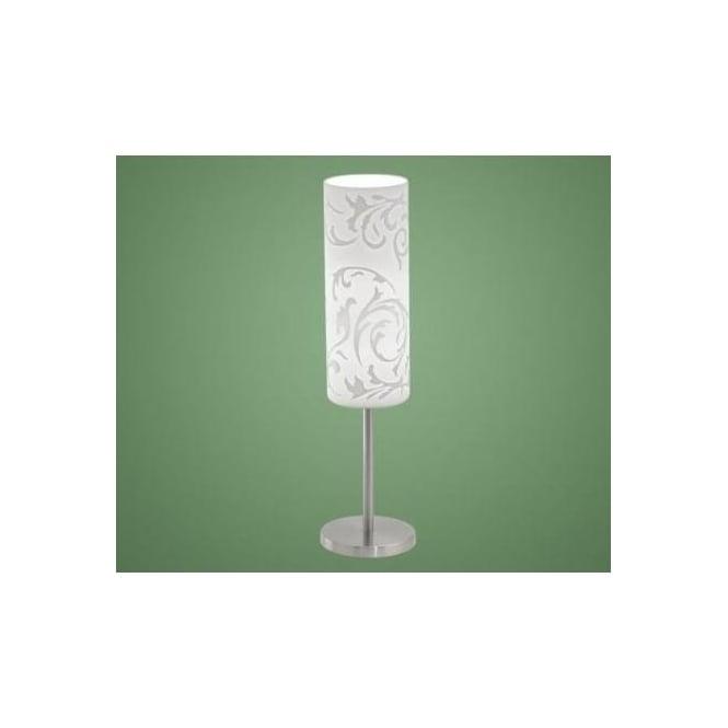 Eglo eglo 90051 amadora 1 light modern table lamp nickel for 100 watt table lamps uk