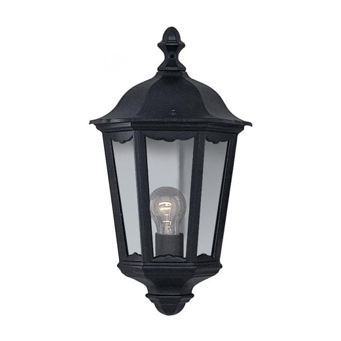 Searchlight 82505bk 1 Light Traditional Outdoor Wall Light Black Ip44