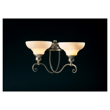 David Hunt ST211 Stratford 2 Light Traditional Wall Light Aged Brass Finish Complete With Glass ...