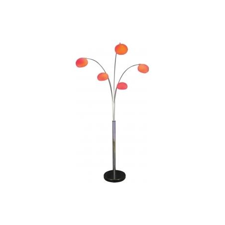 Buy lounge 5 red modern floor lamp for Mantra 5 light floor lamp
