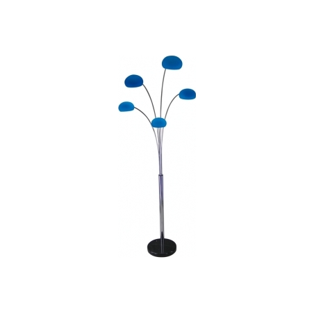 Lounge 5 blue modern floor lamp for Floor lamp with blue glass