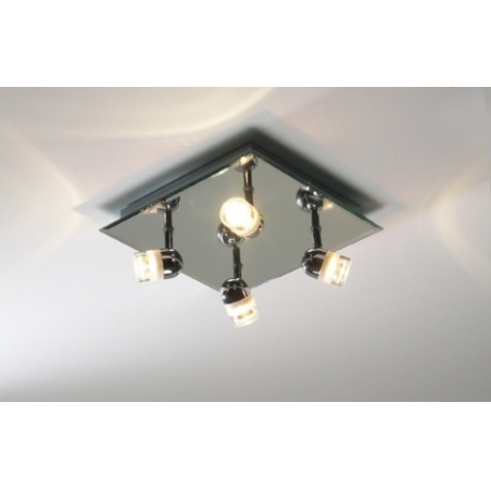 dar pur8550 pure 4 light modern bathroom flush ceiling spotlight ip44