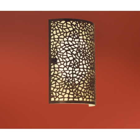 Eglo 89115 Almera 1 light modern wall light champagne glass antique brown finish - Wall Lights ...