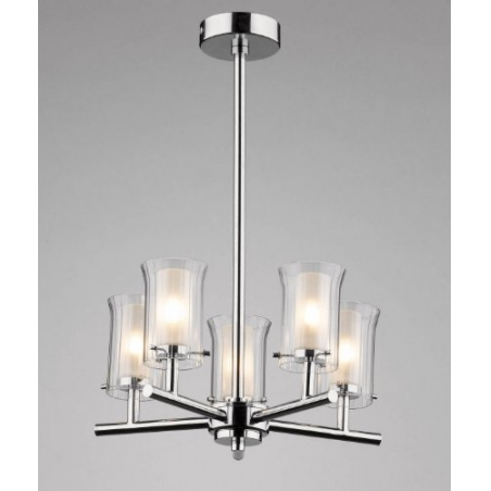 Dar Dar Elb0550 Elba 5 Light Modern Bathroom Ceiling Light Polished Chrome Finish Ip44 Rated