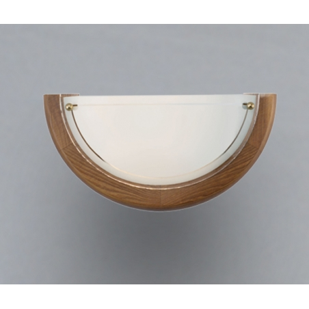 Eglo 3893 UFO1 1 light traditional wall light white opaque glass oak finish - Wall Lights from ...