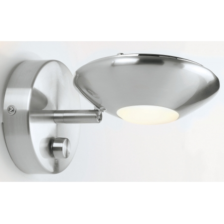 Wall Sconce With Rotary Switch : Endon 224-SC 1 Light Modern Wall Light Satin Chrome Dimmer