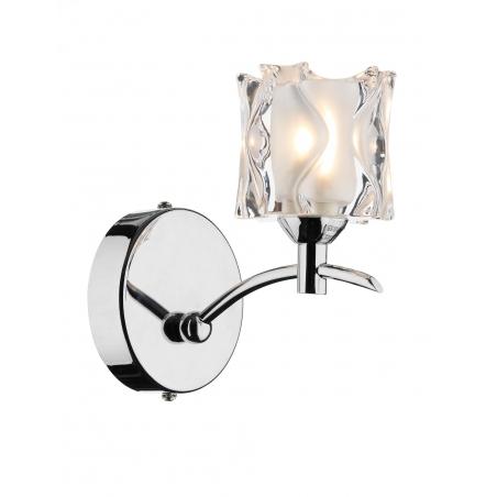 Ottoni Wall Lights Chrome : Dar JAC0750 Jacob 1 light modern wall light polished chrome finish with opal/clear glass shade ...