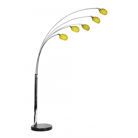 Lounge 5 floor lamp with yellow shades for Macey floor lamp yellow
