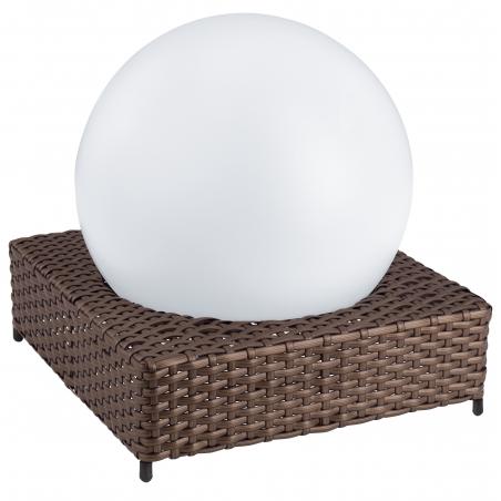 Eglo Eglo 47567 Solar Light 4 Light Modern Outdoor Led Solar Rattan Floor Lamp Brown And White