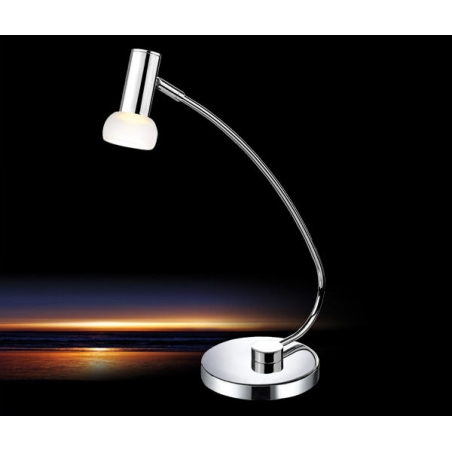 eglo eglo 90882 glossy led table lamp chrome finish with glass shade table lamps from ocean. Black Bedroom Furniture Sets. Home Design Ideas