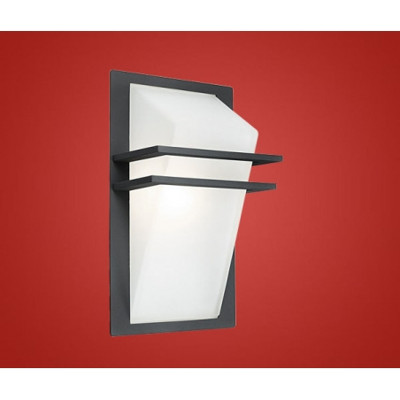 light modern outdoor wall light anthracite finish ip44 rated wall