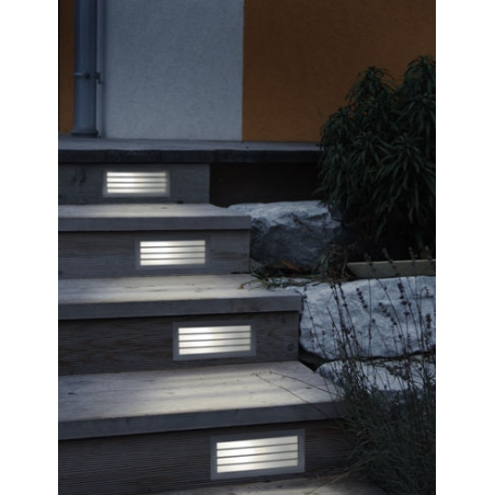 Eglo eglo 88576 zimba 1 light outdoor recessed wall light silver eglo 88576 zimba 1 light outdoor recessed wall light silver finish ip44 rated workwithnaturefo