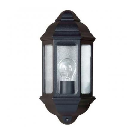 Endon YG 5004 Outdoor 1 Light Flush Mounted Wall Light Black IP44