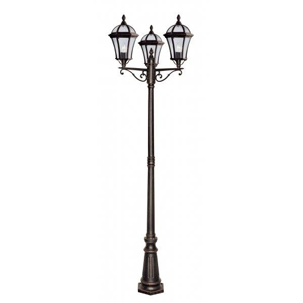 Searchlight 1569-3 | Capri Rustic Brown Outdoor Lamp Post