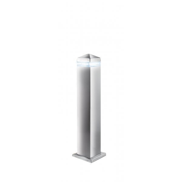 Searchlight 7202 450 outdoor led post lamp satin for Contemporary outdoor post light fixtures