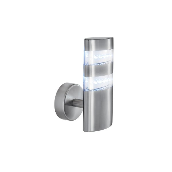 Searchlight 5308 outdoor led wall light satin silver ip44 5308 led outdoor lights 24 light modern outdoor wall light satin silver finish ip44 rated aloadofball Images