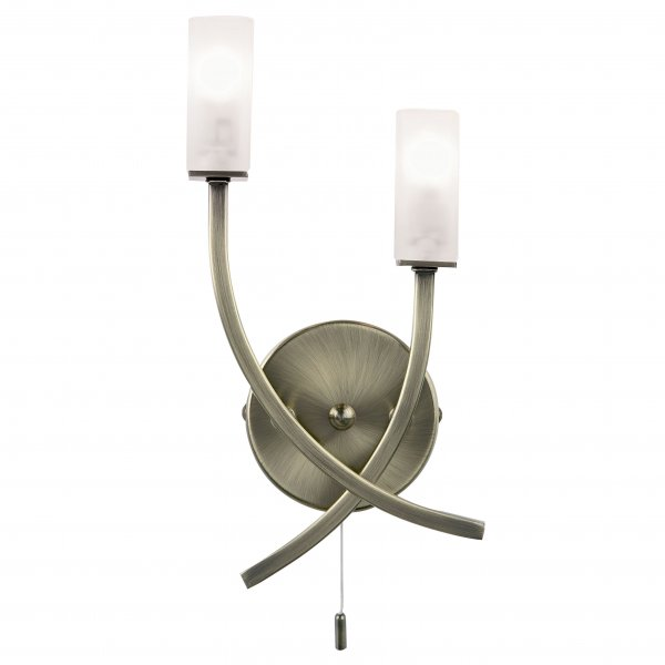 Endon 146-2AB Havana Switched Modern Wall Light