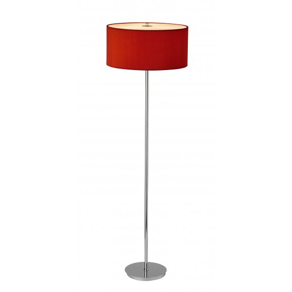 Dar Zar4925 Zaragoza Red Chrome Modern Floor Lamp