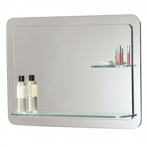 bathroom mirror with light and shelf endon el kozani non electric mirror with shelf 24924