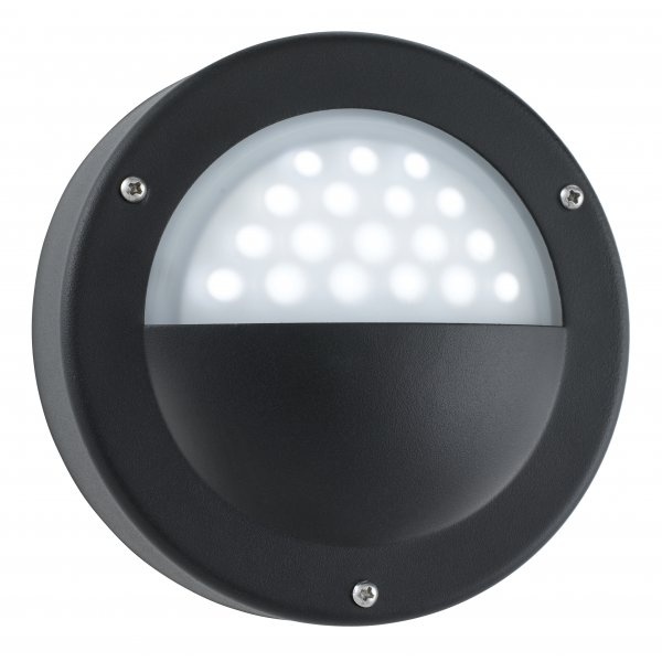 Led Outside Wall Lights Black : Searchlight 8744BK Outdoor LED Wall Light Black