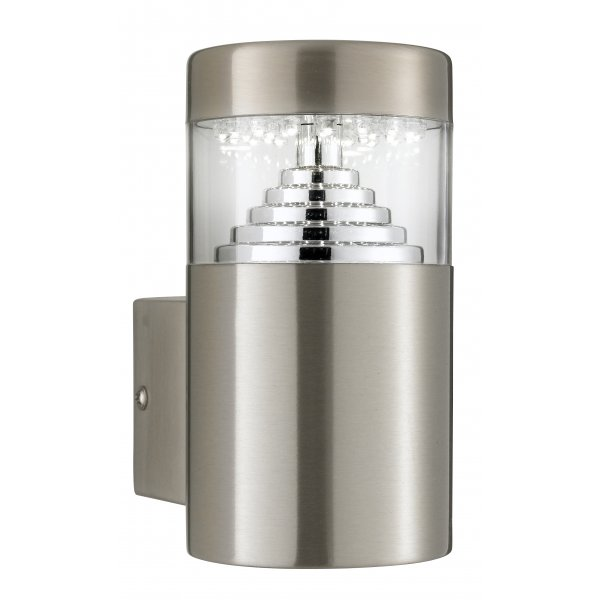 Brushed Chrome Outdoor Wall Lights : Searchlight 7508 Outdoor LED Wall Light IP44