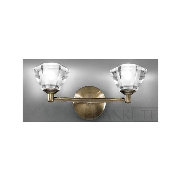 Franklite Twista Lights Twista Antique Brass Wall Light