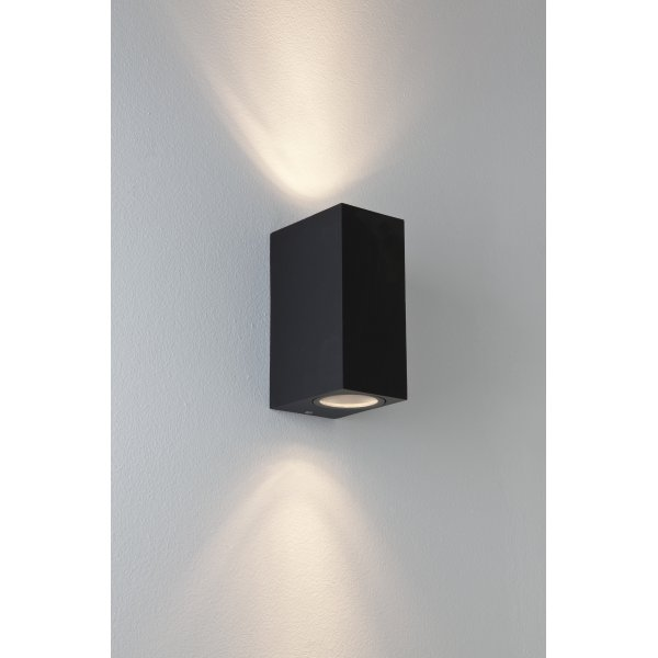 Astro 7128 Chios 2 Light Outdoor Wall Light Black