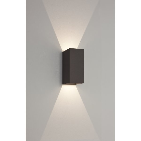 Astro 7061 oslo 160 2 light led wall light ip65 black 7061 oslo 160 2 light led outdoor wall light ip65 black mozeypictures Gallery