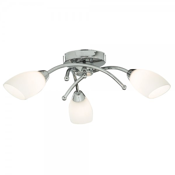 3 Bulb Ceiling Light: Bathroom Ceiling Light Polished