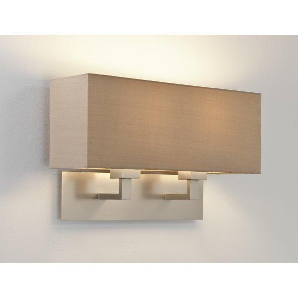 astro 7063 park lane grande twin 2 light wall light matt nickel. Black Bedroom Furniture Sets. Home Design Ideas
