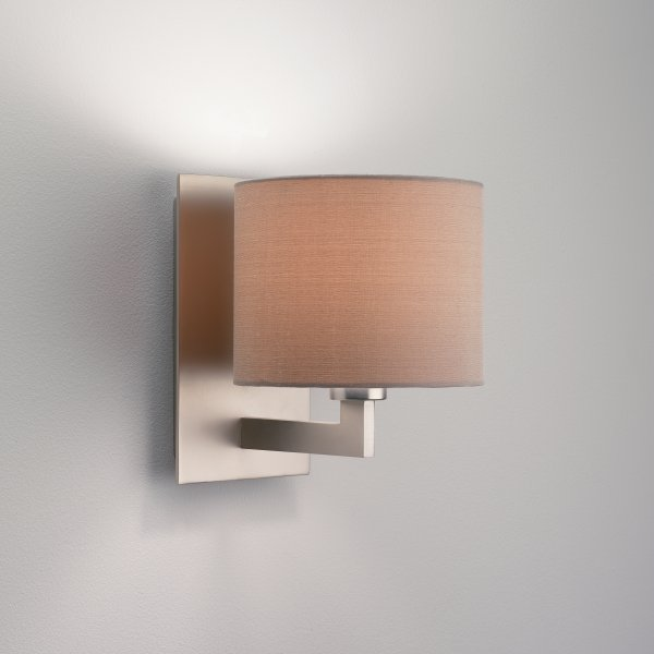 0861 olan 1 light wall light matt nickel with shade