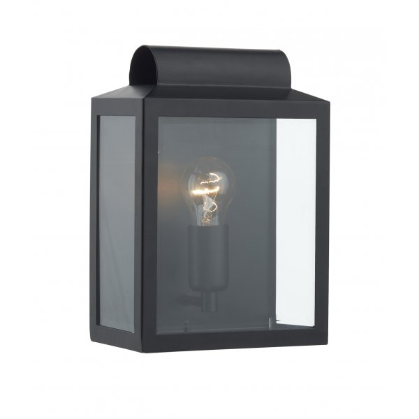 NOT2122 Dar Black Outdoor Wall Light Notary IP44 Wall Light