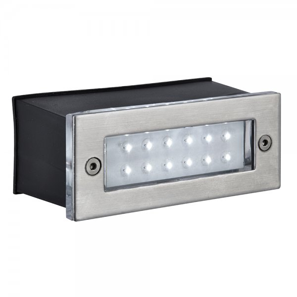Searchlight 2265SS LED Recessed Outdoor Wall Light Stainless Steel IP54