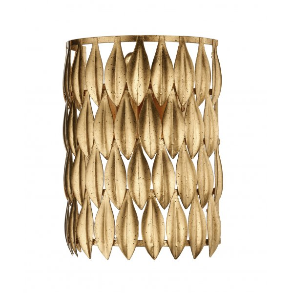 Dar Volcano Gold Switched Wall Light Vol0735 Gold