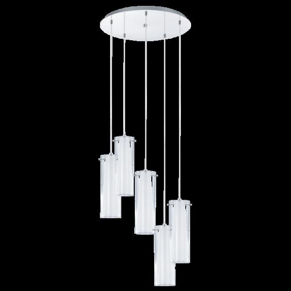 93003 Pinto 5 Light Pendant Polished Chrome  sc 1 st  Ocean Lighting & 93003 Pinto | 5 light Pendant | Eglo Pinto | Glass Pendant
