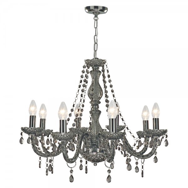 Searchlight 8698 8gy marie therese 8 light smoked grey chandelier searchlight 8698 8gy marie therese 8 light chandelier smoked grey aloadofball Image collections