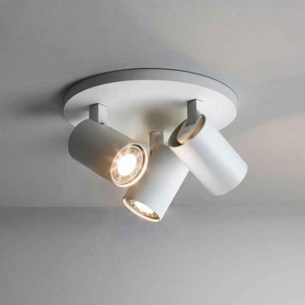 Astro 6143  Ascoli 3 Light Wall Spotlight White
