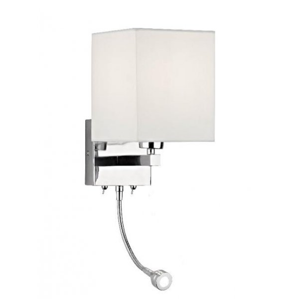 bedroom wall lights uk dar dar tat0950 tatton 2 light modern wall light led flexi 14465