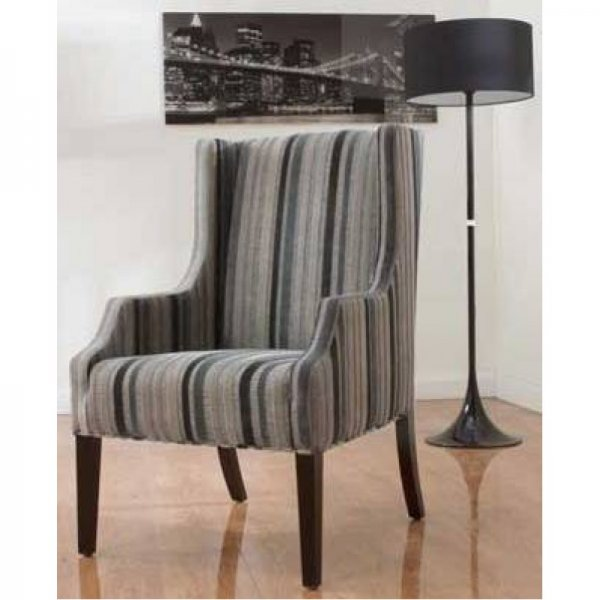 Hannah | 07793 Striped Armchair | Annaghmore Fabric Armchairs