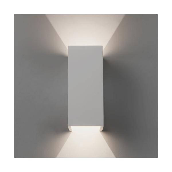 Led Wall Lights Plaster: Astro 7612 Parma 210 LED Wall Light White Plaster