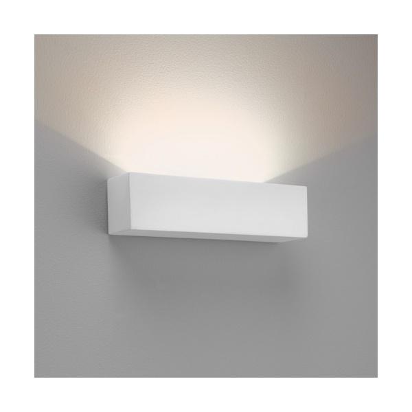 Led Wall Lights Plaster: Astro 7599 Parma 250 LED Wall Light White Plaster