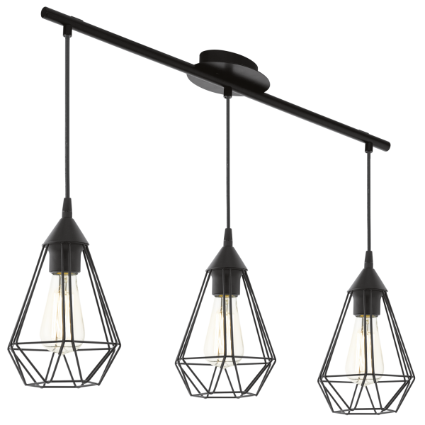 Eglo 94189 Tarbes 3 Light Ceiling Pendant Black